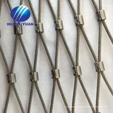 Edelstahl-Drahtseil-Maschennetz gewebtes Seilzoo-Maschendekoration-Seilfiletarbeit