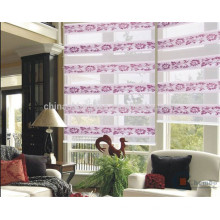 Venta al por mayor persianas de tela cebra con soporte de metal persiana enrollable