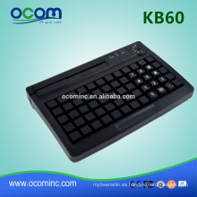 KB60 Programmable POS Keyboard USB/PS2 port with magnetic card reader