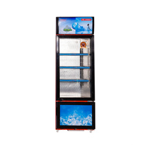 358L Swing Glass Tür Vertikale Double Temperatur Showcase