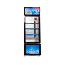 Вертикальная двойная температурная витрина 358L Swing Glass Door