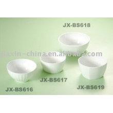 Tazón de porcelana blanca estilo coreano JX-BS616-619