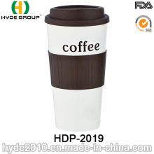 Taza de café plástica respetuosa del medio ambiente de la pared doble (HDP-2019)