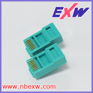RJ45 Connector Green for Cat5e UTP