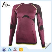Ropa interior atractiva inconsútil de la ropa interior de los deportes de invierno Tops