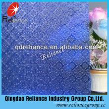 3.5mm Blau / Grau / Bronze Flora / Nashiji / Karatachi Figured / Gemustertes Glas