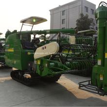 equipo de granja autopropulsada pista de goma de corte de arroz