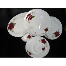 Exportación Una decoración de la rosa de la rosa real de la placa de hueso de la decoración
