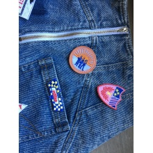 Appliques Flag Patches Vest Jacket embroidery