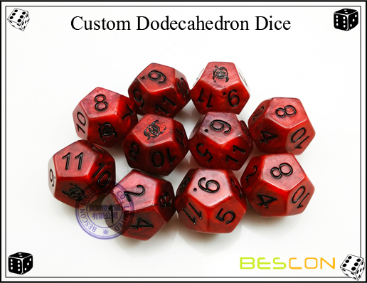 Custom Dodecahedron Dice