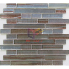 Irregular Lines Pattern Strip Glass Mosaic (CFS613)