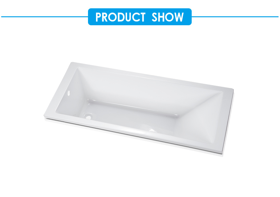 Quatro Acrylic Straight Drop-in Bath Tub