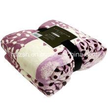 Folhas de jasmim impressas folhas de flanela cobertores de lã