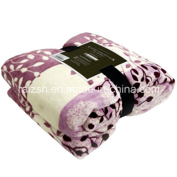 Jasmine Leaves Printed Flannel Sheets Fleece Blankets