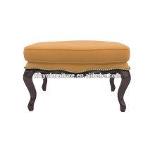 Antiguo otomano de cuero de muebles de salón de belleza XY3374