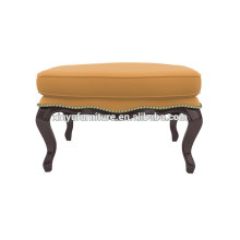 Antique beauty salon furniture leather ottoman XY3374