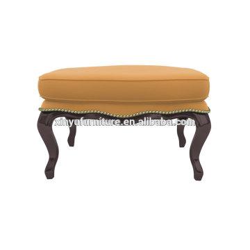 Antique beauty salon furniture leather ottoman XY3374