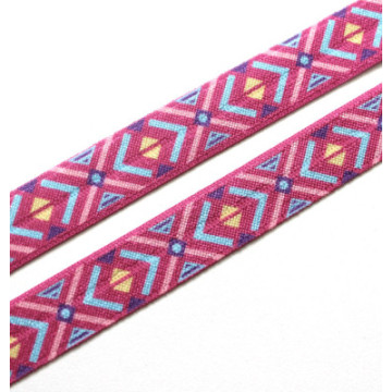 Popular tartan printed FOE hair ties for winter season