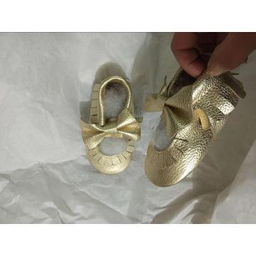 Sapatos de sola de couro de moda menino
