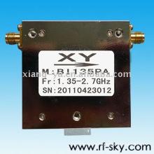 Aislador coaxial del circulador del rf de banda ancha SMA / N de 100W 1.35-2.7GHz