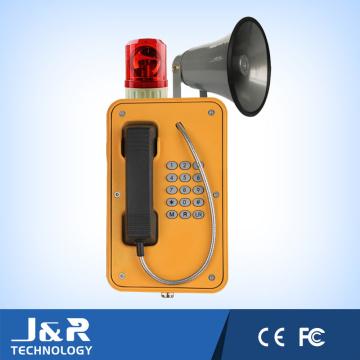 Emergency Tunnel Intercom Telefon, Wasserdichter Bergbau, Industrial Alarm Phone