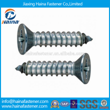China Supplier in stock stainless steel DIN7982 Cross recessed countersunk head tapping screws