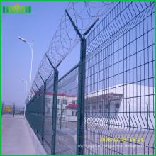 Clôture en acier soudée soudée en PVC à haute sécurité