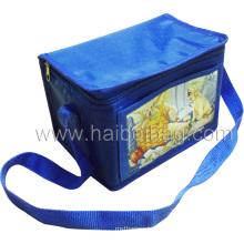 Polyester Promotional Lunch Bottle Food Cooler Bag (HBCOO-9)