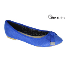 Toe Pointed Mulher com Bow Flat Casual Ballet Shoes
