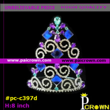 Purple tree christmas pageant tiara crown