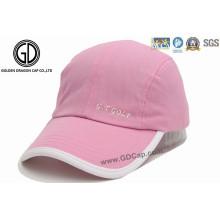 Gute Qualität Kundenspezifische Mode-Rosa-Sport-Kappe