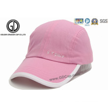 Chapéu feminino de moda Pink Golf e boné de golfe