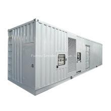 800 Kw 40 pés de tipo silencioso gerador diesel Containerized com o motor BRITÂNICO de Perkins