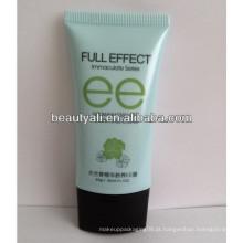 Plástico tubo oval plana, tubo oval plana para cosméticos, tubos de plástico oval plana
