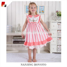 Pink stripe dress linen fabric for party girls