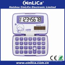 Baratos calculadoras de bolso dobráveis calculadora eletrônica rosa download para venda JS-28H