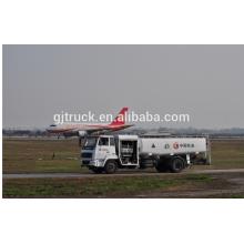 Capacidad del tanque 4X2 drive10000L del camión de reabastecimiento de aviones para el avión de aire del puerto de aire utilizado