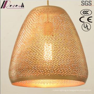 Gold Fashion Round Hollow Lámpara colgante con comedor