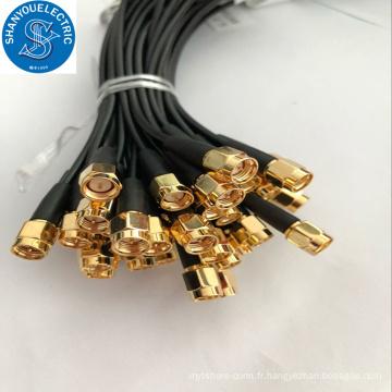câble en queue de cochon avec connecteur femelle sma