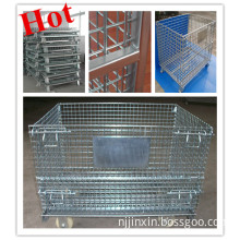 Logistic Foldable Wire Container Storage /Cage/Mesh Box Pallet/Foldable Wire Container