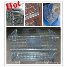 Logística plegable contenedor de alambre / jaula / Mesh Box Pallet / plegable contenedor de alambre
