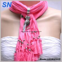 Animal colgante de la joyería franjó la bufanda de las mujeres (SNSMQ1010)