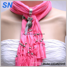 Animal Pendant Jewelry Fringed Women Scarf (SNSMQ1010)