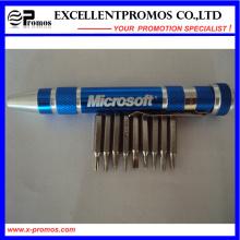 De aluminio de múltiples funciones herramienta de bolsillo pluma (EP-TS8125)
