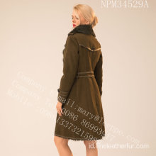 Winter Reversible Women Merino Shearling Coat