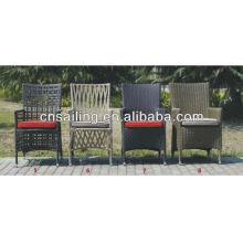 All Weather Wicker Stacking fauteuils en osier haut en osier en rotin Chaise à manger