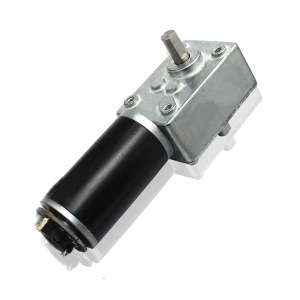 12V Double Shaft Worm Gear Motor With Encoder