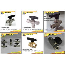 2 way 3 way mini brass ball valve
