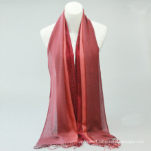 Hot Selling fashion lady solid red chevron 100% cashmere scarf
