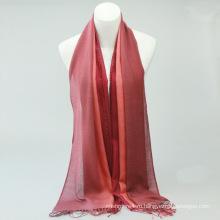 Горячие Продажа мода леди сплошной красный шеврон 100% кашемир шарф